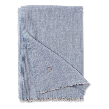 Esra Fine woven lightweight two-tone throw, 200 x 145cm, Sky