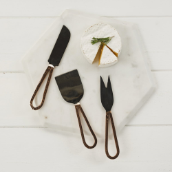 Set of 3 cheese knives, 17.5 - 19cm, Copper