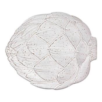 Artichoke Set of 4 dinner plates, 31.5 x 26.8cm, white