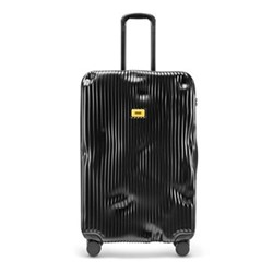 Stripe Large suitcase, H79 x W50 x D30cm, black