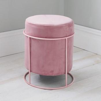 Stack stool, L37 x W37 x D45cm, pink