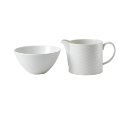 Gio Sugar and creamer set, White/ Bone China