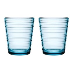 Aino Aalto Pair of tumblers, 22cl, light blue
