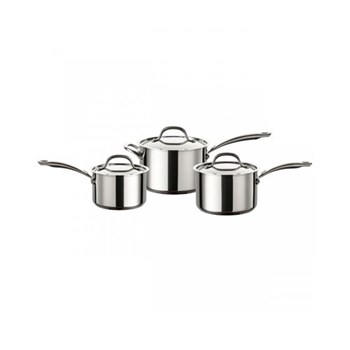 Ultimum 3 piece pan set, 16, 18, 20cm, stainless steel