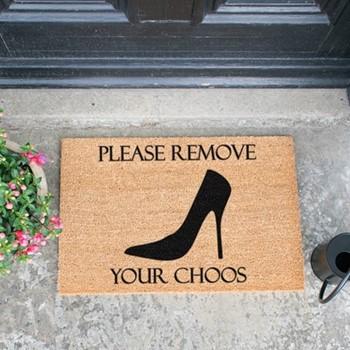 Remove Your Choos Doormat , L60 x W40 x H1.5cm