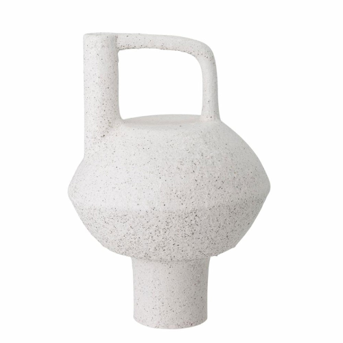 Deco Vase, H24 x D34cm, White