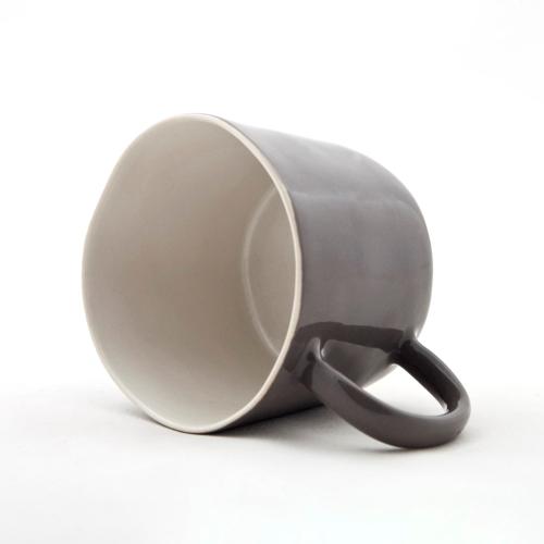 Set of 4 mugs, L8 x D11.5 x H6.5cm, Charcoal