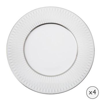Prism Set of 4 side plates, 20cm, platinum