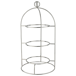 Latitude 3 tier plate stand, for 22cm plates, silver plate