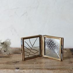 Danta Folded danta frame, 5 x 10.5cm, antique brass