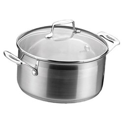 Impact Dutch oven with lid, 3.2 litre - D20cm, stainless steel and glass