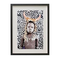 African Boy by Matilda Temperly Framed fine art photographic print, H57 x W43 x D3.3cm, black frame