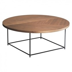 Coralie Coffee table, D84 x H33.2cm, walnut