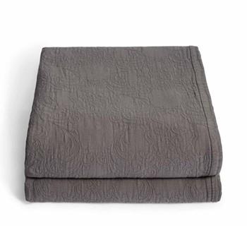 Lombard Matelassé blanket super king, smoke