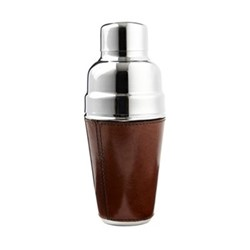 Cocktail shaker, H23 x W9.5 x D9.5cm, conker brown