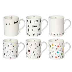 Ski collection Mug collection, H9.5 x W10.5 x D8.5cm - 35cl, muti
