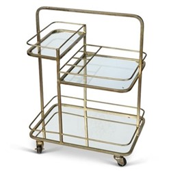 Lanesborough 3 tier drinks trolley, W62 x D41 x H81cm, antique gold