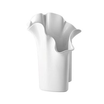 Asym Vase, 30cm, white