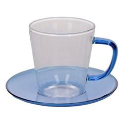 Colour Teacup and saucer, 300ml, blue