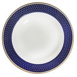 Antler Trellis Rim soup bowl, 22.8cm, midnight blue and gold