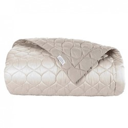 Montaigne Bed cover, L260 x W280cm, gazelle / mink