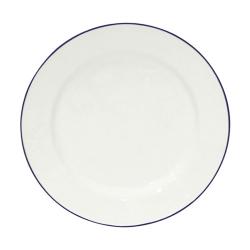 Beja Set of 6 dinner plates, 28cm, White With Blue Rim
