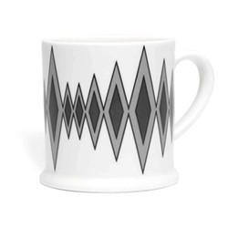 Diamond Espresso cup, 6.6 x 6.1cm, grey/black
