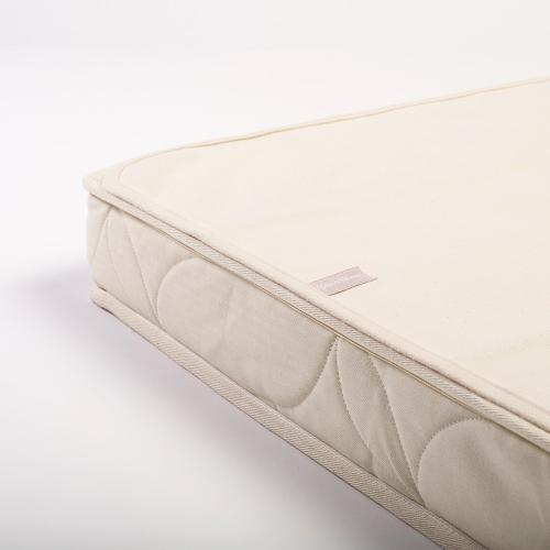 Organic Cot Mattress protector, W60 x L120cm, Natural