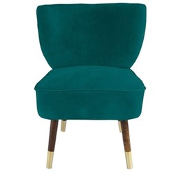 Westbury Velvet chair, H80 x W65 x D65cm, jade green