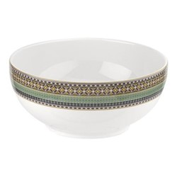 Atrium Bowl, 27cm, white/green