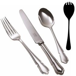 Dubarry Salad serving fork, Silver Plate