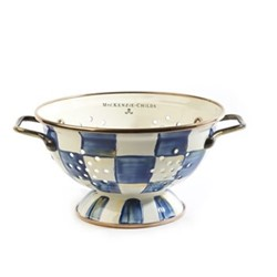 Royal Check Colander, D15.87 x H8.89cm, blue & white