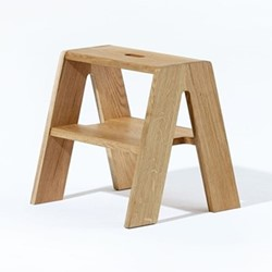 Quick Step by Sarah Kay Stool, W40 x D40 x H40cm, oak
