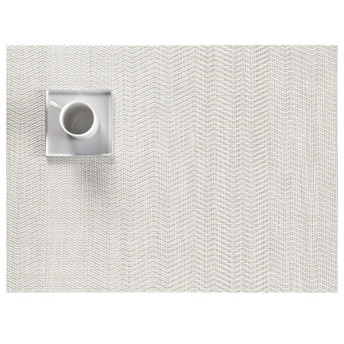Wave Set of 4 rectangular placemats, W36 x L48cm, Grey