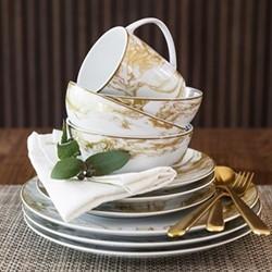 Gunnison Dinner plate, 28cm, gold