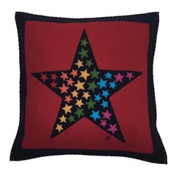 Star of Stars Cushion, 46 x 46cm, red
