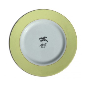 Harlequin - Yellow Cheetah Tea plate, 16.5cm, yellow