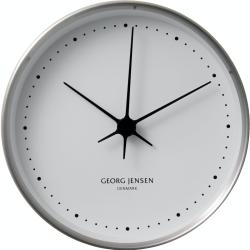 Henning Koppel Clock, 22cm, Steel/White