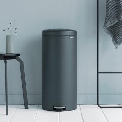 newIcon Pedal bin, 30 litre, Mineral Infinite Grey