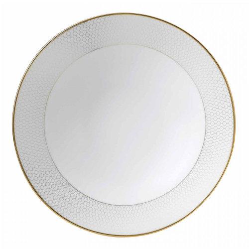 Arris Pasta bowl, 25cm, White With Gold Band