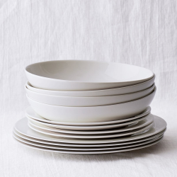 Symons Dinner set with 12 pieces, White Bone China