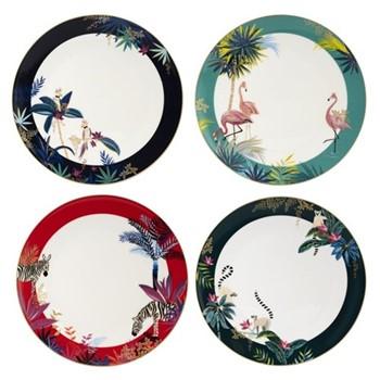 Tahiti Set of 4 dinner plates, 28cm