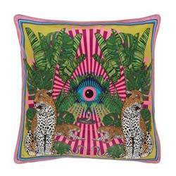 Eye of the Leopard Cushion, L45 x W45cm, pink