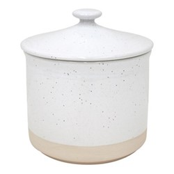 Fattoria Medium canister, D15 x H17cm, white