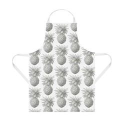 Pineapple Apron, 60 x 80cm, white/grey