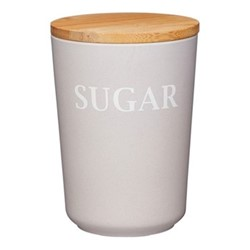 Natural Elements Sugar canister, 14 x 10.5cm, bamboo