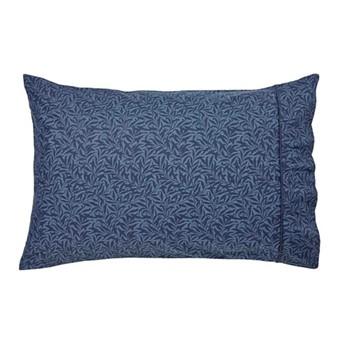 Strawberry Thief Standard pillowcase, L48 x W74cm, indigo