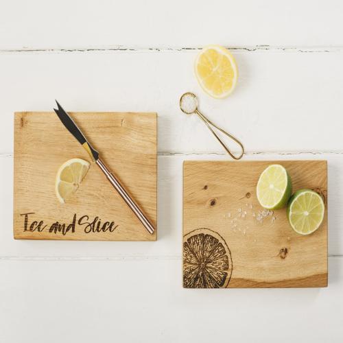 Citrus Chopping board, 19 x 14 x 4.2cm, Engraved Illustration