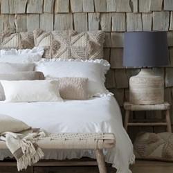 Malmo Pair of pillowcases, 50 x 75cm, ruffle white