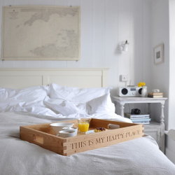 Personalised large butler tray, 58 x 48 x 8cm, Oak